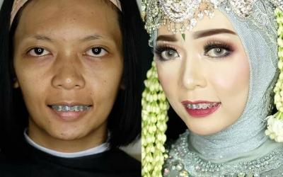 30 эффектных преображений: невесты до и после макияжа