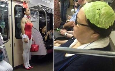35 фотодоказательств того, что метро – самое странное место в мире